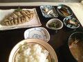 漁師料理のあじのみそたたき定食1080円