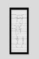 Martina Lückener  Linien 2  2014 80x30cm Zeichnung