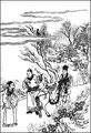 Weï-Peï tire son mémoire de l'intérieur de sa manche, et le présente à Tchoung-Yu