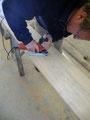 Préparation du bordé d'arronçoirs © Jean-François Sini