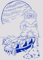 TITLE:季節労働者 カスタムTシャツオーダーラボ参加作品 サインペン+PC