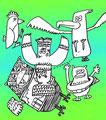 TITLE:選り鳥魅鳥(よりどりみどり) サインペン+PC