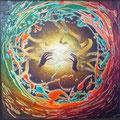 Power of Light 2            acrylic on canvas 18x18 inch, 46x46   cm 2012