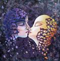 Fascination 1           acrylic on canvas 18x18 inch, 46x46 cm 2013
