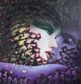 Fascination 2           acrylic on canvas 18x18 inch, 46x46 cm 2013