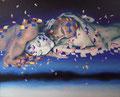 Embracing 4           acrylic on canvas 20.8x25.6 inch,53x65   cm 2013
