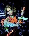 """""""ELEMENTS-Johanne-            acrylic on canvas, 72.9x60.8 cm, 28.7""""x 24    2016"""