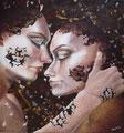 Embracing 7            acrylic on canvas 15.7x15.7 inch,   40x40 cm 2014