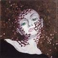 Woman in Black           acrylic on canvas 18x18 inch, 46x46 cm   2013