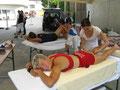 Entspannende Massage nach dem Rennen