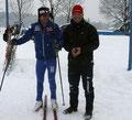 Günther Fersterer und Michael Standmann vom Polizeileistungskader im Langlauf