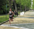 Damensiegerin Mateja SIMIC (SLO) auf der Laufstrecke