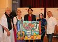 Organisator Adolf Anglmayer, Landesrätin Karin Scheele, Künstler Matthias Laurenz Gräff, Nadjat Hamdi (Vertreterin der Frente Polisario), Politiker Josef Wiesinger. Copyright by Rene Denk