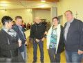Ortsvorsteherin Christina Baltes mit Markus Weiskircher, der Vorsitzende des Förderkreises Prof. Dr. Walter Klos, Astrid und Eberhard Grün (Dirigent)