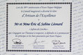 2016 : Prix « Artisan de l'Excellence » par Eurotoques.