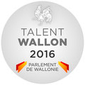 2016 : Prix du Talent Wallon remis par le Parlement Wallon.