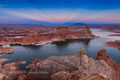 lake powell - almstrong point bei sonnenuntergang