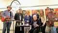 ALFRED und ROMAN bei der Lesung und Vernissage von Walter Baca (Foto Manfred Mikysek)