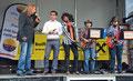 ALFRED und ROMAN mit Bürgermeister Chr. Gepp, Manfred Mikysek und Jenny Bell am Korneuburger Stadtfest