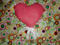 Herz mit Knisterfolie gefüllt