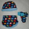 Set: Mütze, Halssocke, Handschuhe
