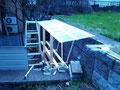 屋根は、90cmの波板(ちょっと短かった)
