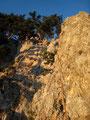 Ausstieg über den Wildenauersteig; Sonnenkind zweigt rechts ab