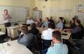 """""""Schweden aus deutscher Sicht"""", lautete der Vortrag von Dr. Gerhard Austrup, Fachberater für das Unterrichtsfach Deutsch in Schweden. Foto: Ulrichs"""