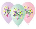 balon Happy Birthday pastele z helem