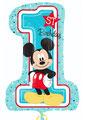 balon cyfra 1 myszka mickye