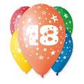 balony kolorowe na 18ste urodziny
