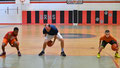 Coach Bergan demonstrates an agility/handling drill