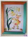 """C 2c    dessin pris sur livre carton mousse """"les jonquilles"""""""