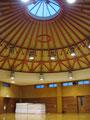 武道場の天井は高さがあります