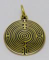 Lebenslabyrinth, Gelbgold mit Lasergravur