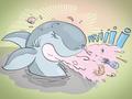 Illustrationen für das Kinderbuch Anna und der Pfützenhai - Hainer niest (und wie!)