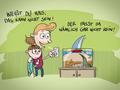 Illustrationen für das Kinderbuch Anna und der Pfützenhai - Das Aquarium bei Licht ...