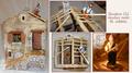 Maison en construction (2 santons) - 100€