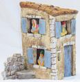 Façade de maison pour santons 7cm - 30€ (santons vendus séparément, 8€ pièce)