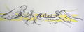 Tanz;  Feder, Aquarell, 28 x 70 cm