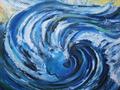 Tanz auf der Welle: Öl: 50 x50 cm