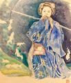 京舞 祇園甲部 舞妓 紫乃さん (二条城・アートアクアリウム)