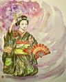 奉納舞踊「姫三社」2019年平安神宮例祭にて 宮川町 花ふさ 菊咲奈さん【個人蔵】