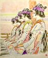 2018年祇園祭 花笠巡行 奉納舞踊 小町踊りにて  【個人蔵】 祇園東歌舞会