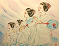八坂神社・奉納舞踊 宮川町「コンチキ音頭」