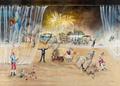 Halligalli | 100x70 cm, Acryl auf Leinwand