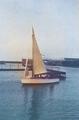 """Valk prototype """"kistmodel"""" (met midzwaard)  proefvaart dec.1939"""