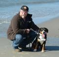 Mit Cheffe am Strand