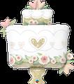 "Glitter Gold Wedding Cake 38"" - € 12,90"