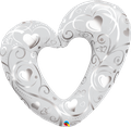 "Hearts & Filigree Pearl White 42"" - € 14,90"